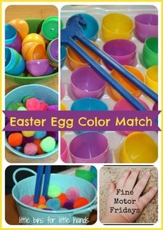 Easter Fine Motor Activity and Color Matching from Little Bins for Little Hands