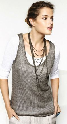 LINEN KNIT TANK TOP from Poetry