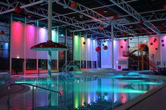 Golden Coast Ltd: LED RGB lighting rejuvenates leisure facility 1 of 4 Element Lighting, Golden Coast, Young Family, Pools, Swimming, Led, Swim, Swimming Pools, Ponds