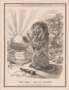 Punch Cartoon for the Japan (Japanese) British Exhibition 1910