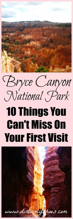 Bryce Canyon National Park in Utah. Explore the hoodoos of Bryce Canyon with this awesome list of 10 things you can't miss! Bryce Canyon, Usa Roadtrip, Travel Usa, Nationalparks Usa, Places To Travel, Places To Go, Utah Parks, Voyage Usa, Trip To Grand Canyon