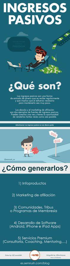 ¿Qué son y cómo generar ingresos pasivos? #infografia