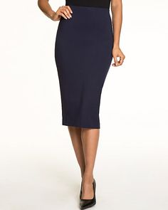 Knit Midi Pencil Skirt - This knit midi skirt is a chic and versatile essential for your closet.