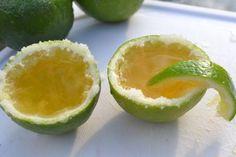 margarita shots in a lime.