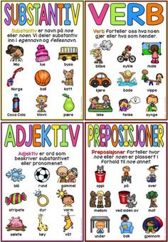 Kan brukes som plakat i klasserommet Danish Language, Swedish Language, Teaching Kids, Kids Learning, Norway Language, Learn Swedish, Learn To Read, Kids Education, Kids And Parenting