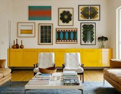 Our Favorite mid century modern eclectic living room one and only homesable.com