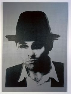 "Gavin Turk, ""Double Beuys"", 2005 // Silkscreen on canvas, 250 x 180cm //"