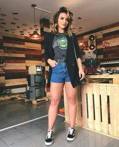 Looks vans old skool vans preto feminino, blazer preto feminino, tênis vans feminino, Grunge Outfits, 30 Outfits, Fall Outfits, Summer Outfits, Casual Outfits, Cute Outfits, Fashion Outfits, Vans Old Skool Outfit, Vans Outfit