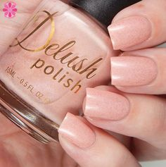 Delush polish // Beam Me Up Biscotti // a pink toned nude polish with subtle gold flakes via @cosmeticsanc