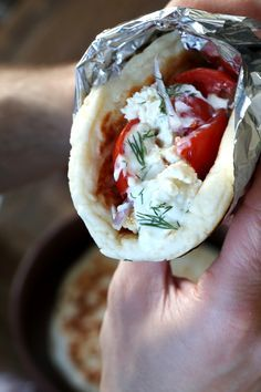 Gluten Free Chicken Gyros on fresh Gluten Free Naan Bread