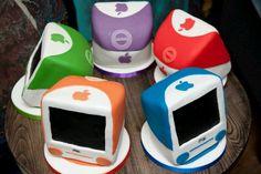 Mini mac computer cakes