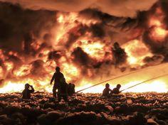 1. Juli: #England: In England nahe Birmingham, brennt eine Recyclingfabrik. Mehr als 150 Feuerwehrleute bekämpfen das Feuer. Eine chinesische Himmelslaterne soll für das Feuer verantwortlich sein. Foto: dpa www.noz.de/73184721/