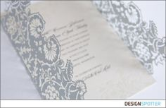 Andrea I want to do somthing like this for you:   Laser Cut Wedding Invite Wrap Idea - But with a Paisley or Hindi Pattern
