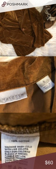 """Halogen Blazer In very good condition, worn only a few times you'll love the color. Bust 18"""" length 23"""" Halogen Jackets & Coats Blazers"""