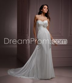 Fabulous Empire Sweetheart Floor-Length Chapel Flower Wedding Dresses