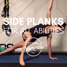 This is a great demonstration of a bunch of side plank variations for every ability level, from beginner to advanced. Super helpful!