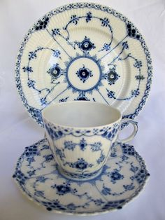 Royal Copenhagen - must find these! favorite color is blue- I collect blue and white dishes - my Nanna was born in Copenhagen