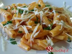 Pasta and potatoes with cheese!