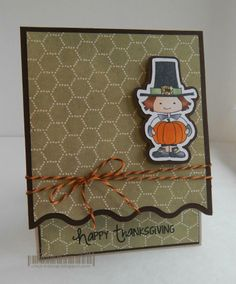 Thanksgiving Day post.  Card created by Jessica using Orange Truffle twine.