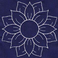 Sashiko Sunflower pattern - Google Search