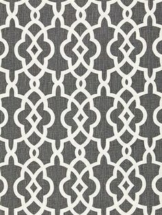 Sch 174591 - Summer Palace Fret - Smoke DecoratorsBest Matching fabric and wallpaper - Possible wallpaper some where in bedroom and future shower curtain?  Line back of shelves with wallpaper?