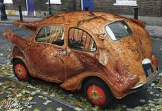 Thanksgiving turkey car (photoshop, tho...sadly)