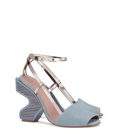 Tory Burch Runway Curio Sandal Sky Blue Suede Wedges. Get the must-have wedges of this season! These Tory Burch Runway Curio Sandal Sky Blue Suede Wedges are a top 10 member favorite on Tradesy. Save on yours before they're sold out!