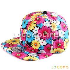 Women Girl Colorful Sun Flower Floral Blossom Snapback Cap