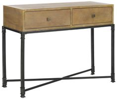 Julian 2 Drawer Console Natural Color