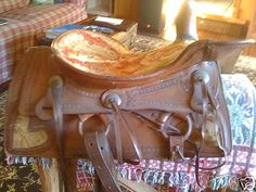 Old western with tapestry inserts and heart on back lower skirt