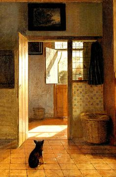 Mother Task by Pieter de Hooch, ca. 1658 -1660 (detail).  Beautiful light in this painting.