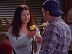 Photo of Luke and Lorelai for fans of Java Junkie (Luke and Lorelai). Luke And Lorelai, Lauren Graham, Java, Books, Livros, Libros, Book, Book Illustrations, Libri