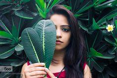 Nimisha - Pinned by Mak Khalaf Sudhanshu Singh Photography Facebook || Instagram Fine Art eyeseyeshadowfemalegirlhalffaceheadshotleafleaveslipsmalemodelmodelspeopleportraitportraitphotographytattoowomanwomen by sudansh