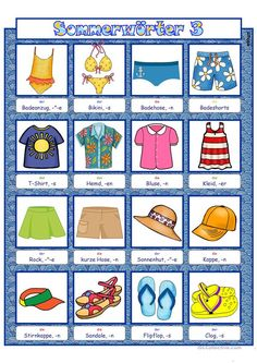 Picture Dictionary, German Words, 3 Picture, Felt Quiet Books, Summer 3, Summer Activities For Kids, German Language, Kids Rugs, Vacation