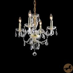 Christopher Knight Home Crystal 57162 4-light Chandelier