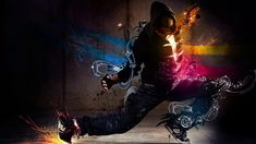 This HD wallpaper is about Graphic hip hop dancer, men's black hoodie and black pants outfit, Original wallpaper dimensions is file size is Dance Wallpaper, Boys Wallpaper, Full Hd Wallpaper, Purple Wallpaper, Original Wallpaper, Wallpaper Downloads, Nike Wallpaper, Dance Background, Background Images