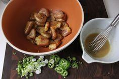 Bon Appetit's Smashed Fingerlings + Jalapeños Potato Salad from Bon Appétit - #sidedish #homemade www.fancycasual.com