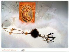 """Sautoir ethnique, tribal, pendentif - La sauvageonne. """"Des traces dans la neige"""". Série """"Rêve d'Ailleurs"""". : Collier par les-virevoltes-de-l-oiseau-lyre"""