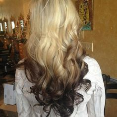 This is what i just got done to my hair! I love it #ombre #BLONDE #Brown