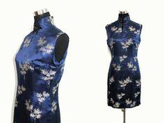 Vintage 60er Jahre Cheongsam Kleid M / von AlleyKatzBoutique