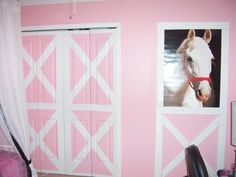 Horse room, My daughter wanted a barn like room but we wanted something that was nice for a little girls room and that would last a while. , Girls Rooms Design