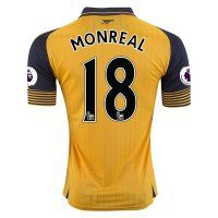Arsenal FC Away 16-17 Season Soccer Shirt #18 MONREAL Jersey