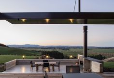 Dravitzki Brown Architects Finlay House - featuring an Escea outdoor wood fire.