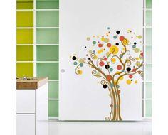 Стикери - Декорация от стикери - Шарено дърво