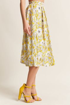 Floral Pleated Midi Skirt - Women - New Arrivals - 2000265582 - Forever 21 Canada English