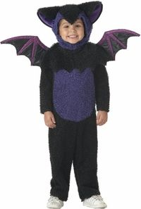 This adorable toddler bat outfit is a fun classic toddler Halloween costume. Black bodysuit with blue belly Attached headpiece Attached bat wings Size: Toddler SKU: Unique Halloween Costumes, Cute Costumes, Halloween Outfits, Halloween Kids, Costumes 2015, Halloween Clothes, Best Toddler Costumes, Bat Costume, Cute Bat
