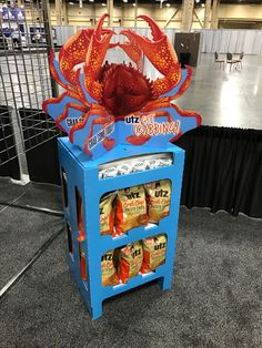UTZ Crab Chips Free Standing Unit - Looking to get noticed with your point of sale display in a busy, fast-paced retail environment? Increase confidence in your sales with www.popthis.com.au