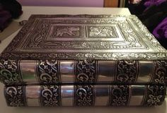 Book shaped jewelry box.