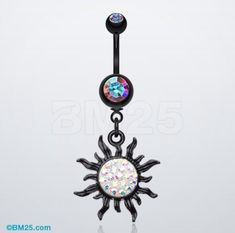 Blackline Tiffany Sun Belly Button Ring $13.95