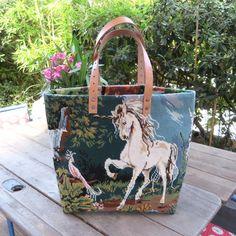 Sac en Canevas Vintage & Cabas en Tapisserie par leshopdemoz.com #unicorn